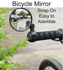 ❤Bicycle Mirror❤Rubber Strap Safety Blindspot E-Scooter Convex Rear View Mirror❤SG Seller❤