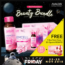 $5 REBATE 2 BOXES BLACK FRIDAY EXCLUSIVE Avalon Stemcell Beauty Drink + FREE 1 Box Avalon Femi Care