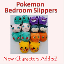 ♥Pokemon Bedroom Slipper ♥New Characters Added♥ Soft Fluffy and Comfortable/Great for Gift