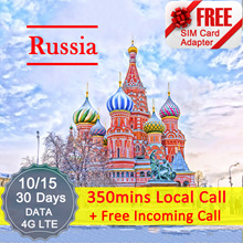 ◆ ICC◆【Russia Sim Card·10/15/30 Days】❤350mins Local Call +Free Incoming Call (Package B)❤