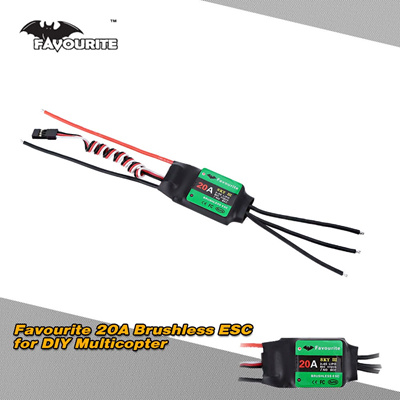 Favourite Eagle Series Sky 3 20A 2-4S LiPo Battery Brushless Motor  Electronic Speed Controller ESC w