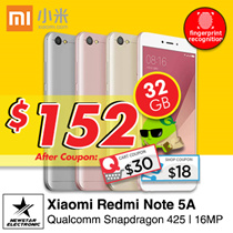 [$152 Nett ] Redmi Note 5A *16GB/32GB/ 64GB * Snapdragon - Ready Stocks! With Playstore | Export Set