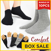 GET 10 PCS! Comfeet  Import Unisex Socks - Ankle / Casual / Invisible