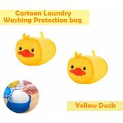 OSUKI Cartoon Laundry Washing Protection Bag (Yellow Duckling) (x2)