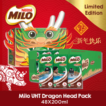 [[Milo CNY ]] MILO UHT CNY Limited Edition - Dragon Head Pack (2 Cartons)