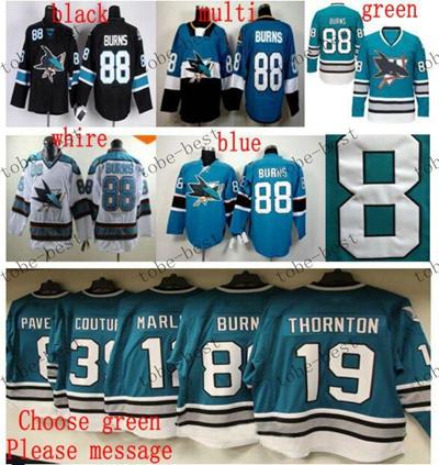buy popular 9935f 82e3d san jose sharks #88 brent burns Cheap Hockey Jerseys ICE Winter mens women  kids Stitched Jersey Free