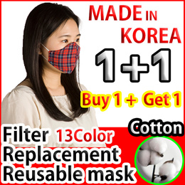 ⭐ 1+1 Super Sale ⭐ Limited 100ea! REUSABLE MASK/washable mask/Cotton Mask/REUSABLE FACE MASK
