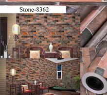 Korean design /The cheapest  PVC Wallpaper/Brick design and high-fashion (no need glue)/0.6SQM