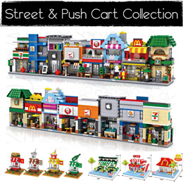 Loz/ Diamond/ Mini Blocks Street View and Street Cart Collection. Great idea for Christmas Gifts!