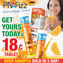 SOLD 5000pcs in 2 days #Bundle of 4#PNFizz Immune Vitamin C 1000mg + Zinc 10mg (20s)