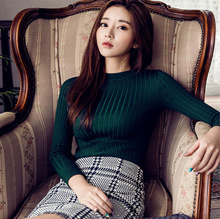 TRENDING Knitted Turtle Neck Wear Top T-Shirt Tee Blouse Short Sleeve / Long Sleeves