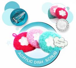 Acrylic Cleaning Sponge 10pcs/Dish Scrubber/Scrubber Cloth/Scrubber Pad/Kitchen/3M Sponge style