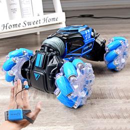 rc手势感应遥控扭变车翻斗双面无线遥控车儿童越野特技攀爬车