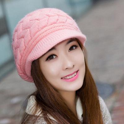 02507118ab9 Wonderful Fashion Womens Flower Knit Crochet Beanie Hat Winter Warm Cap  Beret