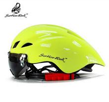 New Cycling Helmet With Glasses Men Women MTB Road Bike Helmet Bicycle Helmet Ultralight Bike Helmet