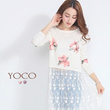 YOCO - Floral Top with Gathered Cuffs-6017301-Winter