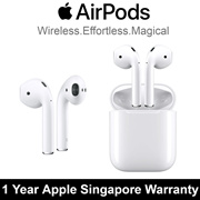 [Local Set] Apple AirPods / Bluetooth Earphones / 1 Year Apple Singapore Warranty / Free shipping