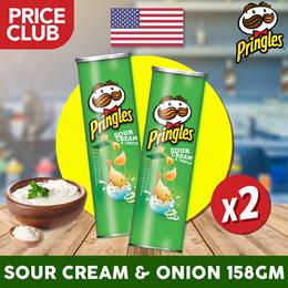 Pringles Potato Chips Sour Cream and Onions USA 158gm (2 BUNDLE DEAL) / Well- Seasoned