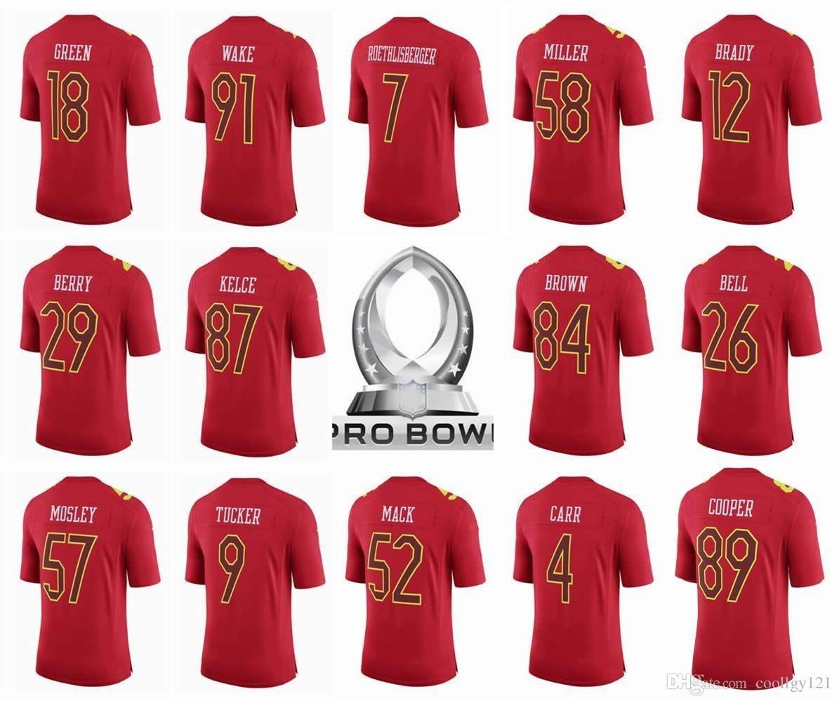 wholesale dealer bc97b b8c32 2017 Pro Bowl Jersey 7 Ben Roethlisberger 12 Tom Brady 26 Le' Veon Bell 84  Antonio Brown Derek C