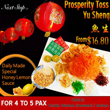 [Next Stop Cafe] CNY Prosperity Toss YuSheng with Special Honey Lemon Sauce Delivery at $16.90!