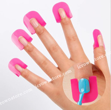 ★ Say BYE To Messy Nail ★ Painting Finger Clips Guides ★ Fingernail Edge Gradient Anti-Overflow