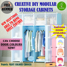 [From $17]PREPACKED Basic Cubes Hang Clothes DIY Modular Storage Cabinet System Rack Shelf Wardrobe