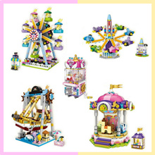 💕 Interactive Building Blocks 💕 Pirate Ship / Carousel / Ferris Wheel / Claw Machine 💕