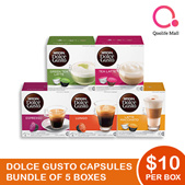 NESCAFE DOLCE GUSTO NDG Coffee and Tea Capsules Bundle of 5