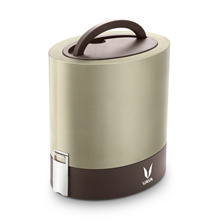 Vaya Tyffyn 1000ml Graphite Copper Finished Stainless Steel Lunch Box with Bagmat - 3 Container