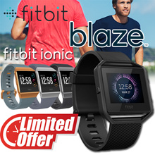 Fitbit Blaze Gun Metal Small / Ionic Fitness Smartwatch /  PurePulse Heart Rate / Multi-Sport Tracki