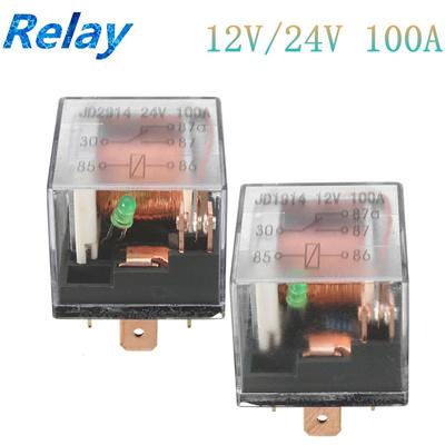 JD1914 Automotive Car Relay 12V//24V 80A//100A 5Pin SPDT Control Device Relay