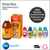 [PnG Health]【FREE SkipHop Bottle!】 SEVEN SEAS Multivitamin Syrup with Cod Liver Oil 500ml