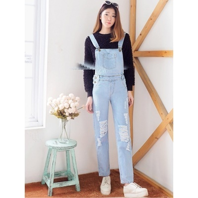 JUMPSUIT RIPPED LUTUT 592 LIGHT