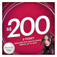 [SAVE $21!] ACUVUE® $200 voucher at $179 🔶 First 40 Unique Shoppers to receive $20 Zalora Evoucher