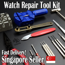 High Quality 16 Piece Watch Repair Tool Kit for Watch Straps/Buckles/Clasps/Battery/Spring Bar [CHEAPEST IN SPORE! FAST DELIVERY!]