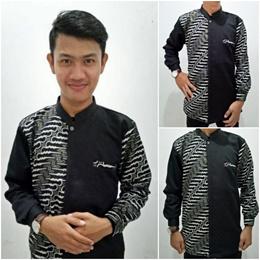 Atasan Batik Vikvo Kemeja Lengan Panjang Batik Modern Pria