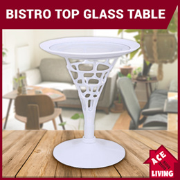Bistro Top Glass Table / Side Table