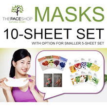 [The Face Shop] Mask Sheets Set of 10/5 Real Nature / Seed / The Solution TheFaceShop faceshop