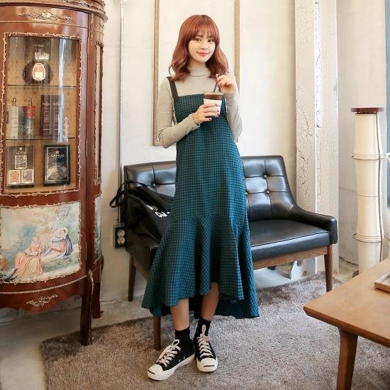 クルリクエンミエリオルワンピース 塔/袖なしのワンピース/ 韓国ファッション