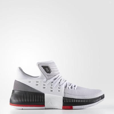 7e7429b6666c Mens Adidas Dame 3 RIP City Damian Lillard White Basketball Shoes BB8268  10-12