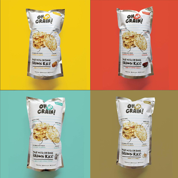 Oh Ma Grain! Organic Brown Rice Cracker Guilty Free Snack for Diet Deals for only Rp19.990 instead of Rp19.990