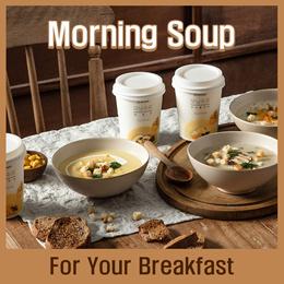 [INTAKE] Morning soup - 4 cups(Sweet Corn / Mushroom / Triple Cheese) / Breakfast / Kfood
