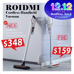 【Official Store】Xiaomi Roidmi NEX  F8 Storm  F8e Cordless Handheld Vacuum |  ✔Strong Suction Power