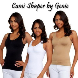 [Cami Shaper by Genie]Cami Body Shaper Genie Bra ShapeWear Tank Top Slimming Camisole/yoga wear/