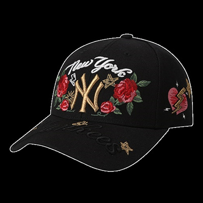 0bd07aa12aa Korean summer rose NY baseball cap Hat women s letters embroidery wild Cap  surges Caps hats