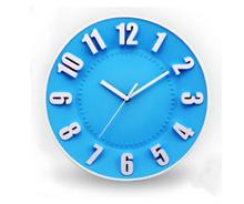 3D Number Plastic Wall Clock
