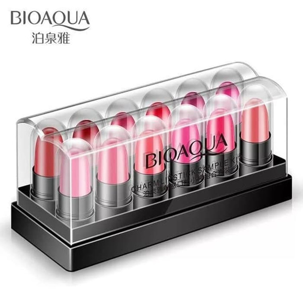 BIOAQUA CHARM MINI LIPSTICK 1 SET 12 PCS Deals for only Rp65.000 instead of Rp98.485