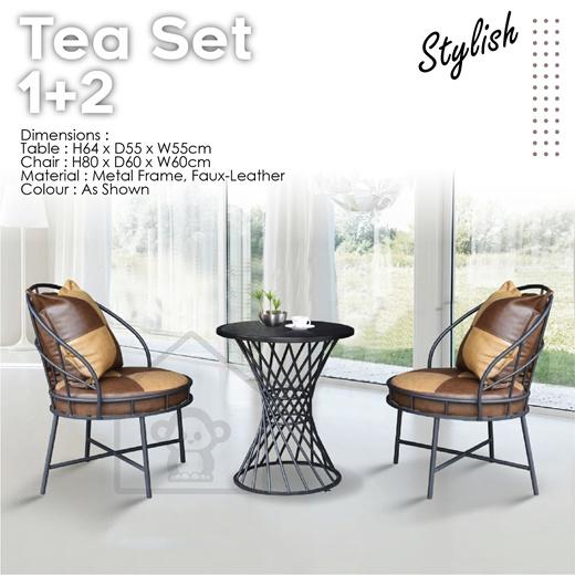 [S$469.00]TEA SET 1+2 / LIVING ROOM FURNITURE / LOBBY SET/HOTEL SET/GARDEN SET/LOUNGE SET