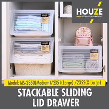 Stackable Front Sliding Lid Drawer ♦ 3 Sizes - M/L/XL ♦ Front Opening ♦  Most Popular
