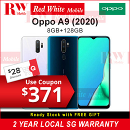 Oppo A9 (2020) 8/128GB Local Warranty  with Oppo SG 2 Years Warranty